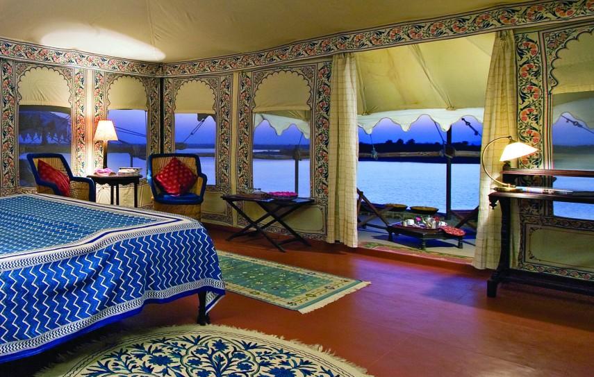 Chhatra Sagar  -  Tent interior