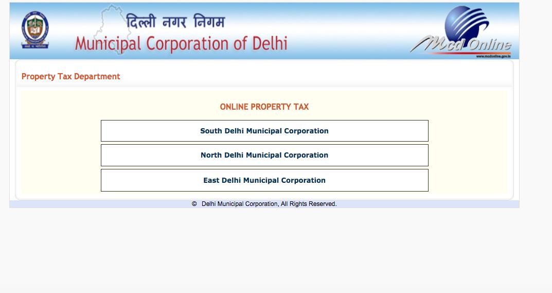 Property Tax Online In Delhi