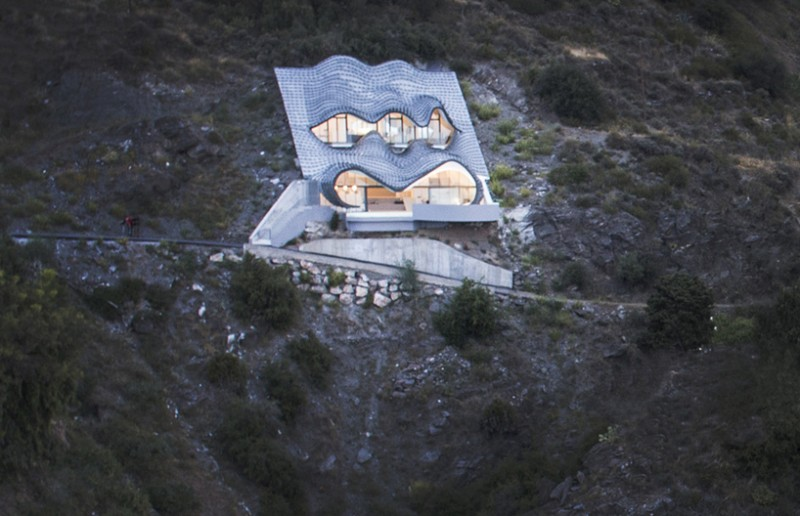 House on the cliff spain