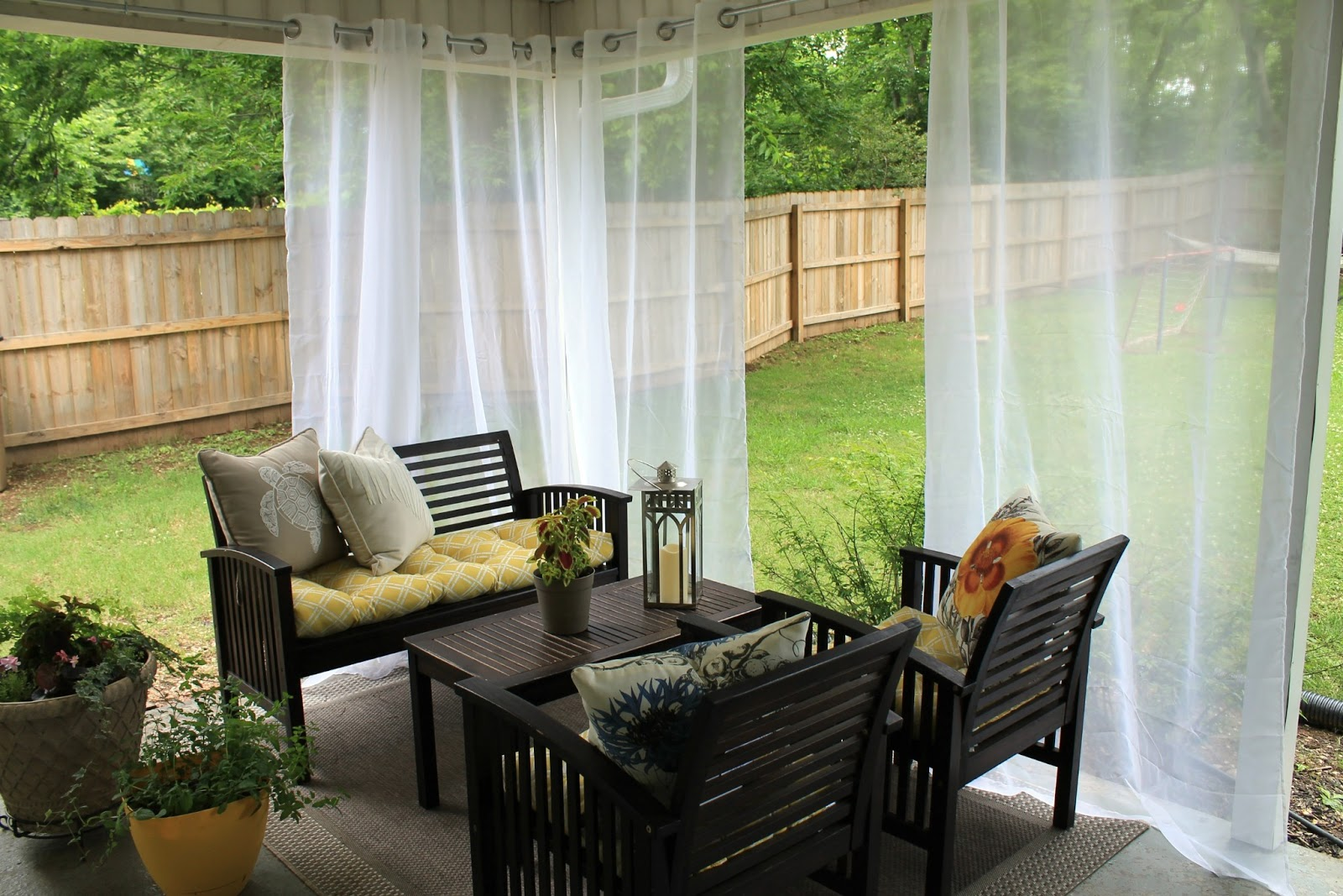 Charming Outdoor Curtains Part - 11: Outdoor-curtains-diy-outdoor-curtains-modern-home-design