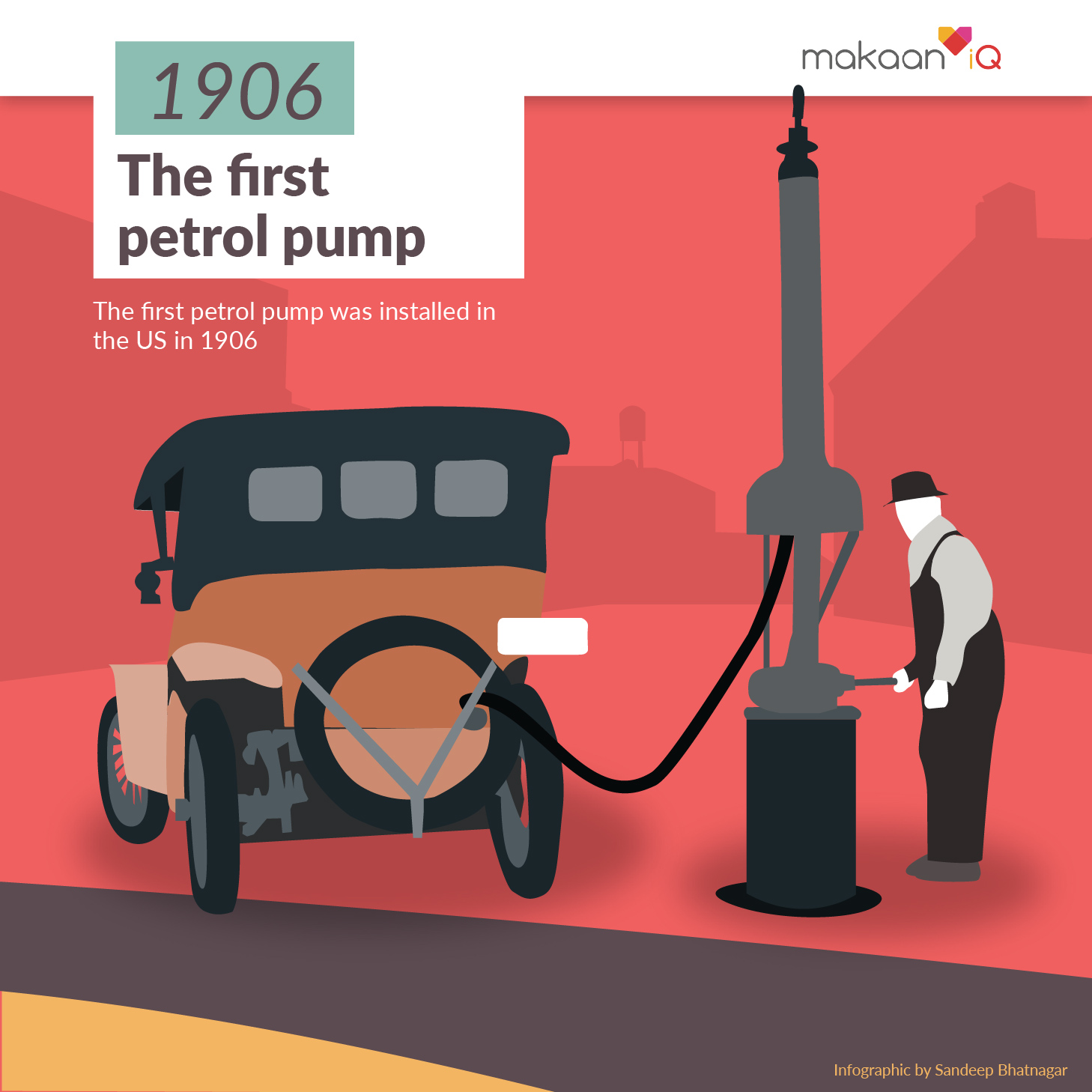 The First Petrol Pump