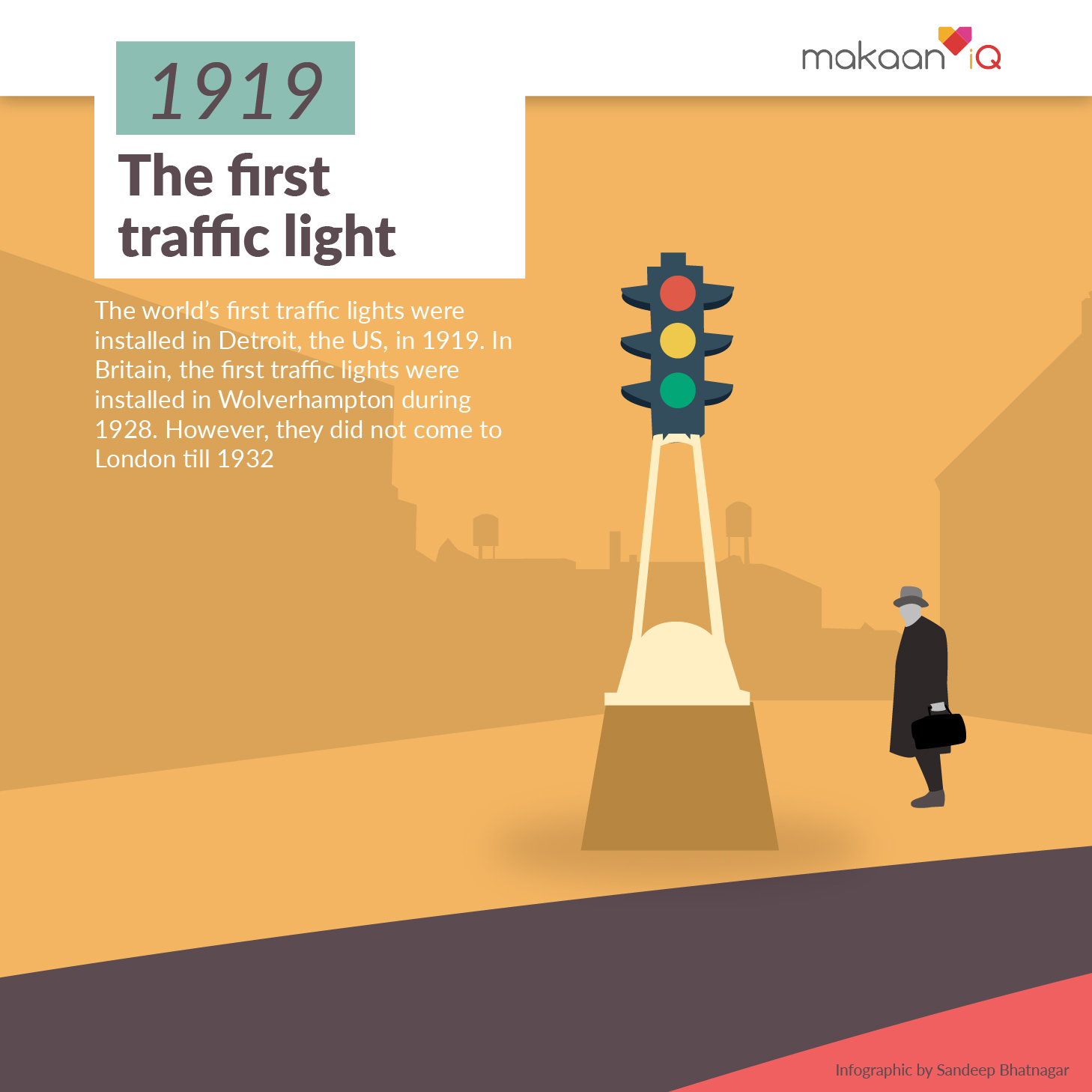 The First Traffic Light
