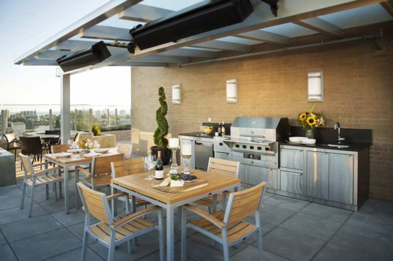 rooftop kitchen