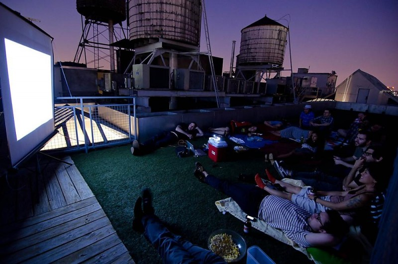 rooftop movie