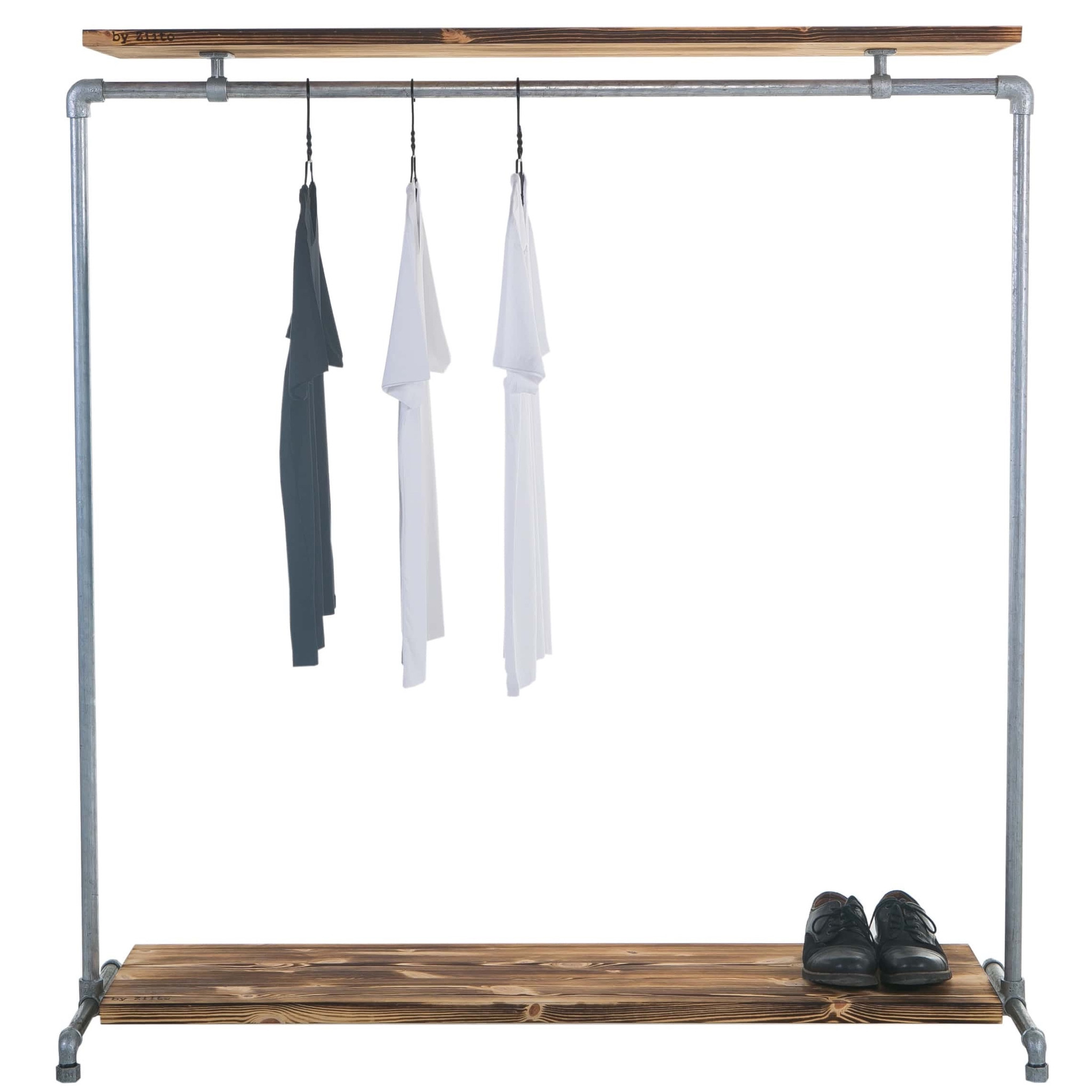 Clothes_rail_Wood_Double_Shelf_1.5.1-min