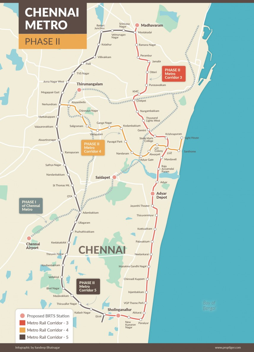 All About Chennai Metro: Phases, Route, Map, Fare, Stations