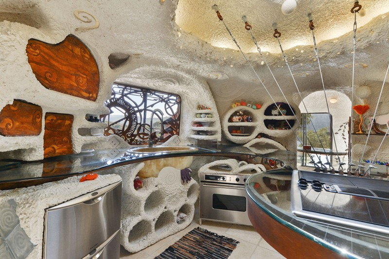 Flintstone house kitchen