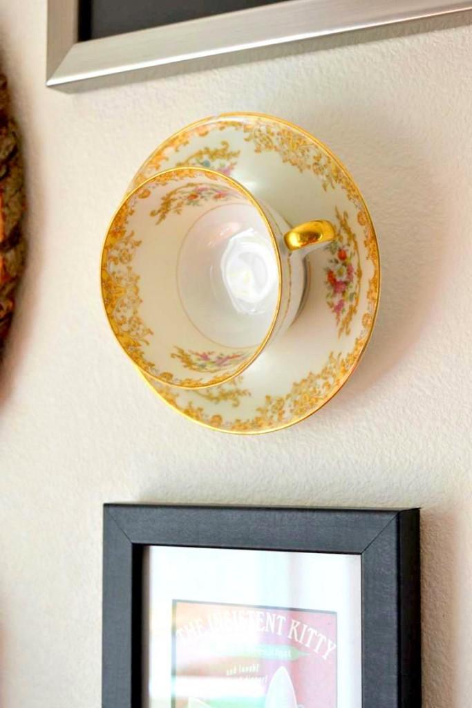 Teacup on wall