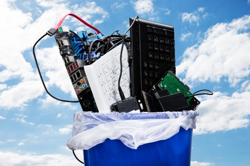 Tech trash, recycle