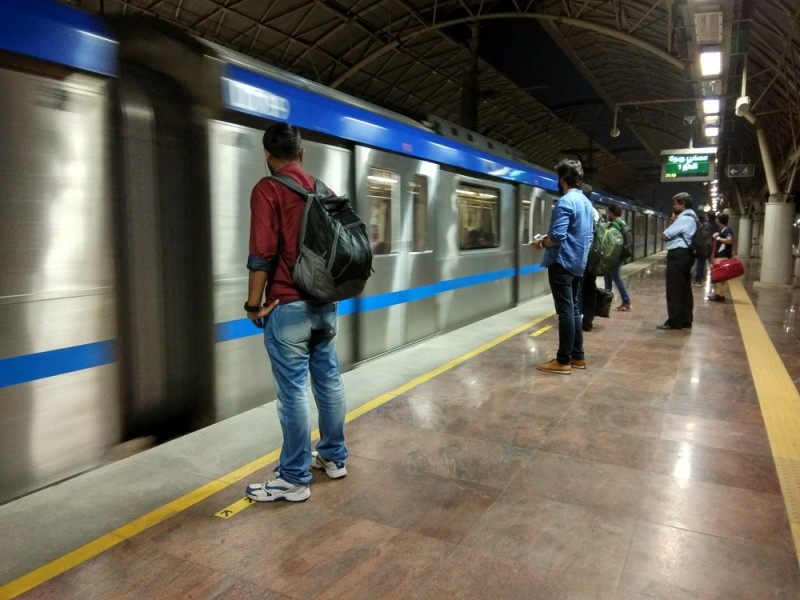 Image result for man in chennai metro