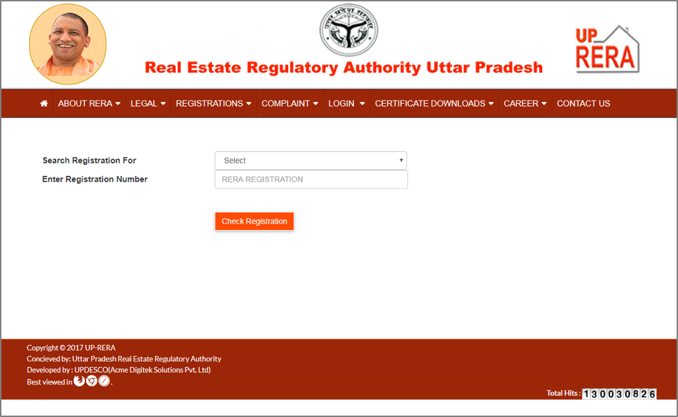 How to track projects, promoters on UP RERA