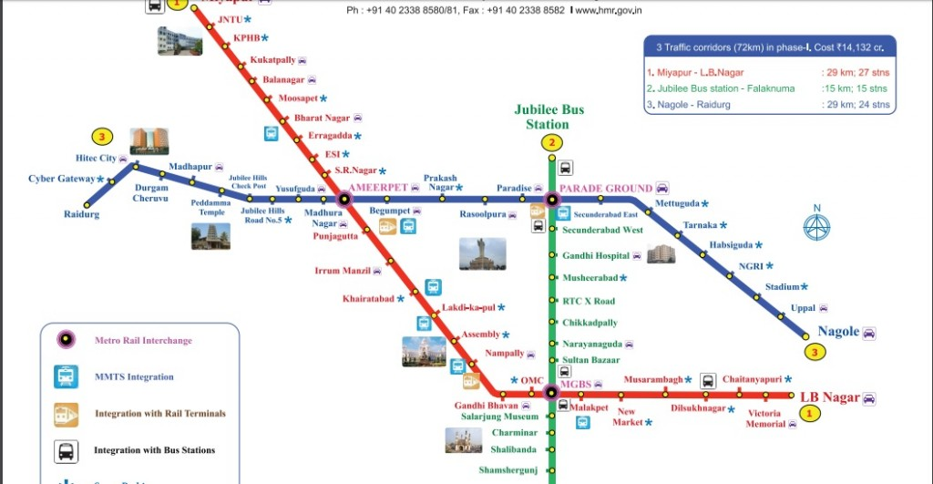 All About Hyderabad Metro: Operational Route, Metro Map, Details